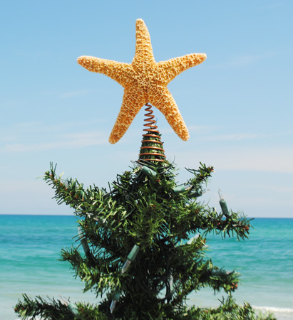 glitter starfish tree topper c